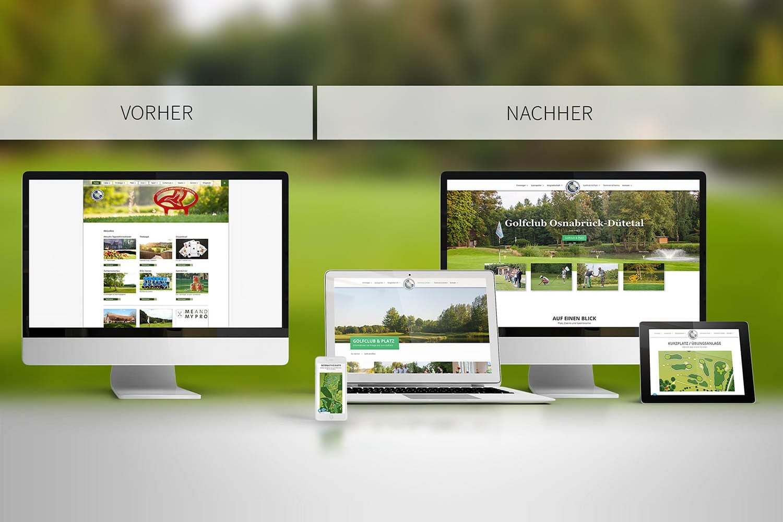 Responsive Webdesign Golfclub Osnabrück Dütetal