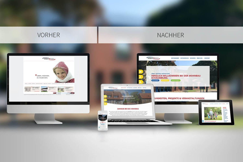 Webdesign Relaunsch KWBS Vorher Nachher