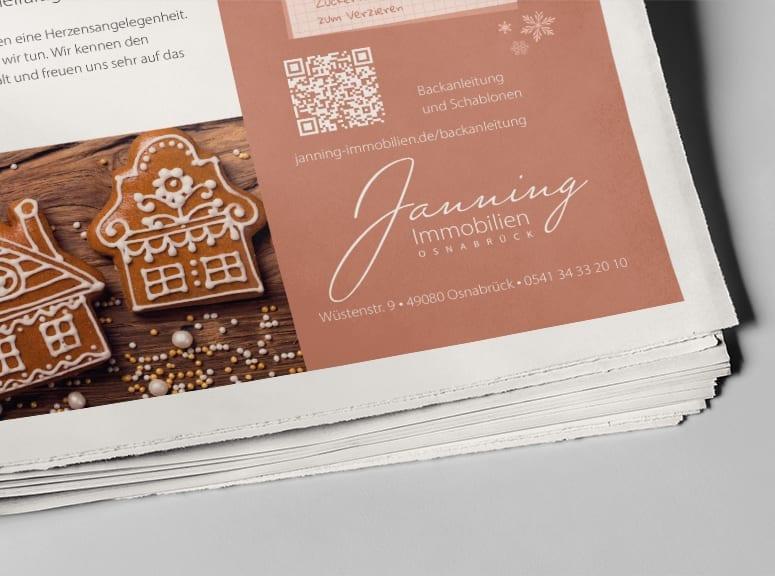 Winteranzeige Janning für Zeitungen und Zeitschriften