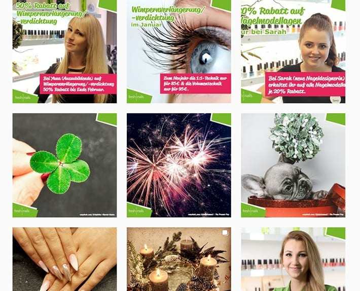 Social Media Marketing Instagram Beiträge Freshnails Osnabrück