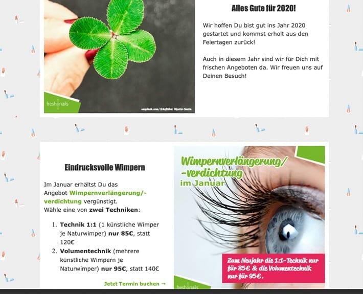 Newsletter Marketing News Freshnails Osnabrück