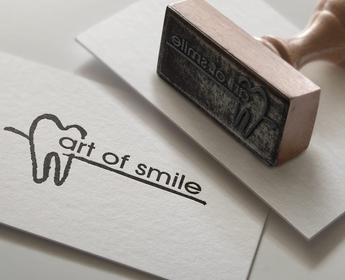 Logo Stempel art of smile