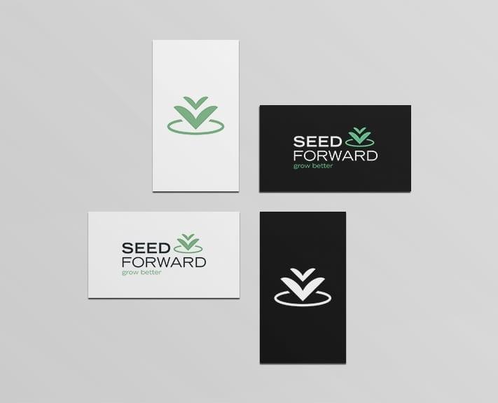 Logo SeedForward Positiv- und Negativ-Ansicht
