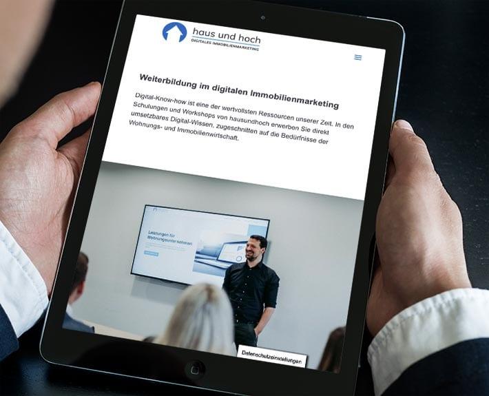 haus-und-hoch Webseite responsive