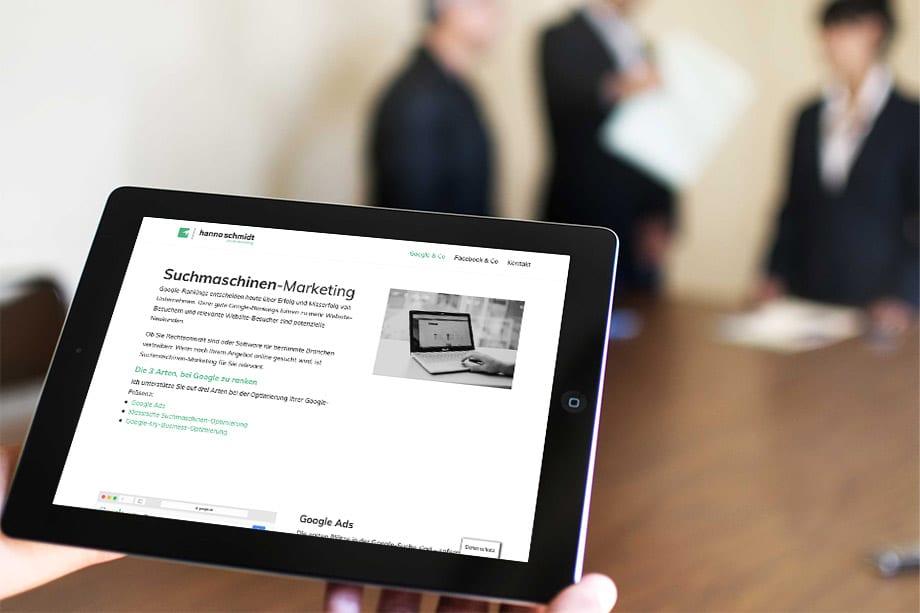 hannoschmidt.de Responsive Webdesign