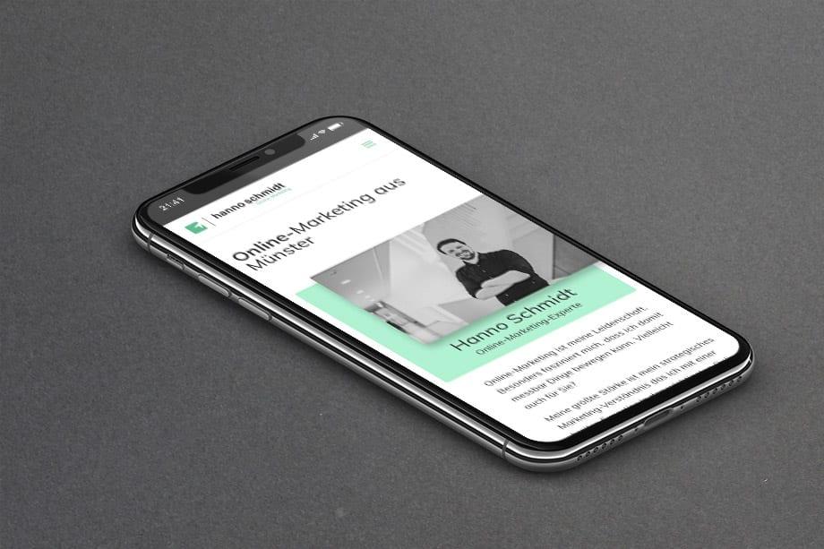 hannoschmidt.de mobil Webdesign