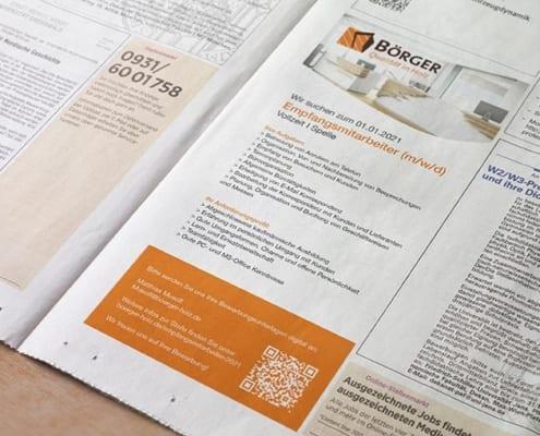 Börger Stellenanzeige Zeitung